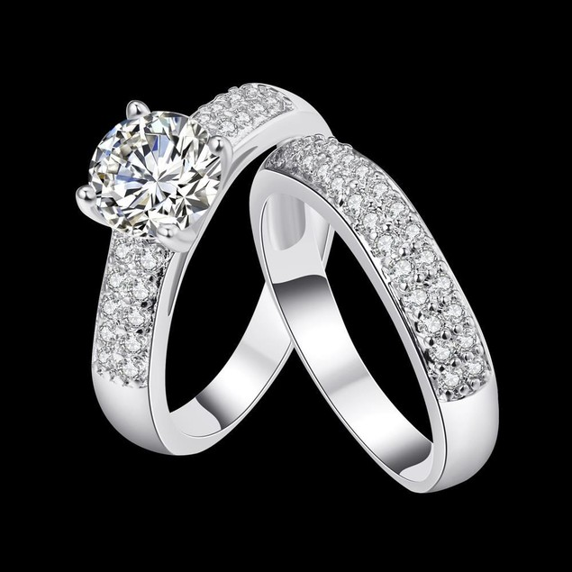 Silvertone Ring with Matching Midi- Ring
