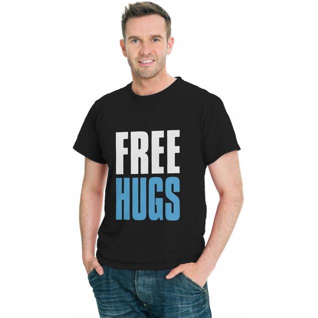 Free Hugs Funny Classic Men T-Shirt-Assorted Color