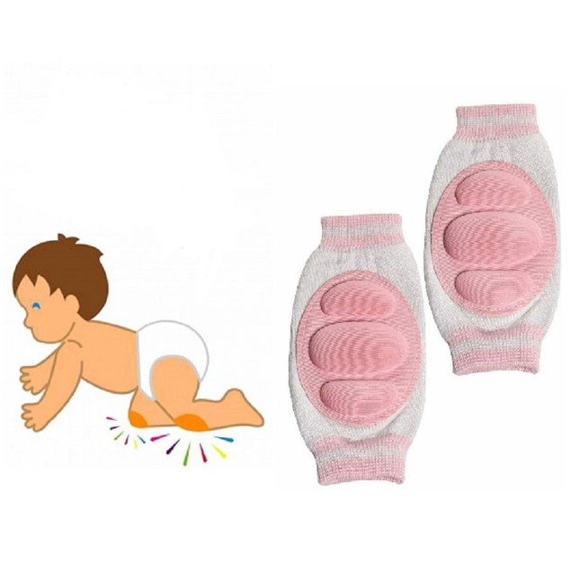 2 Pairs: Two Elephants Tiny Tot Knee Guards