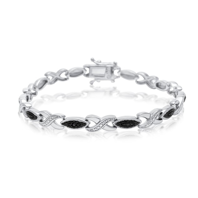 Black Diamond Accent XO Bracelet
