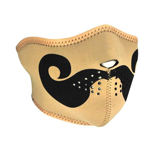 Neoprene 1/2 Face Mask - Curly Mustache