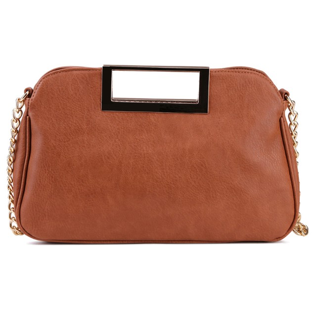 MKF Collection Bramble Rose Clutch with Link Chain by Mia K Farrow