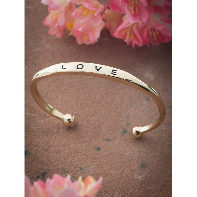 Gold Plated Love Bangle