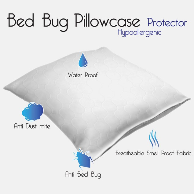 Remedy Cotton Bed Bug & Dust Mite Pillow Protector