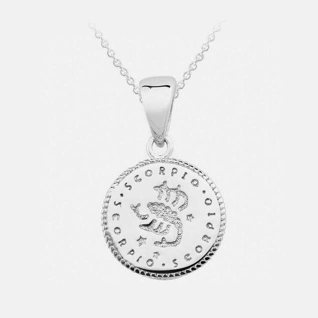 Inspired Sterling Silver Zodiac Pendant - Scorpio
