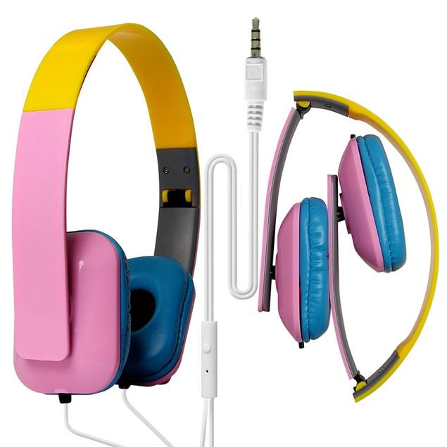 DJ Style Over the Head Headphones - Square Design