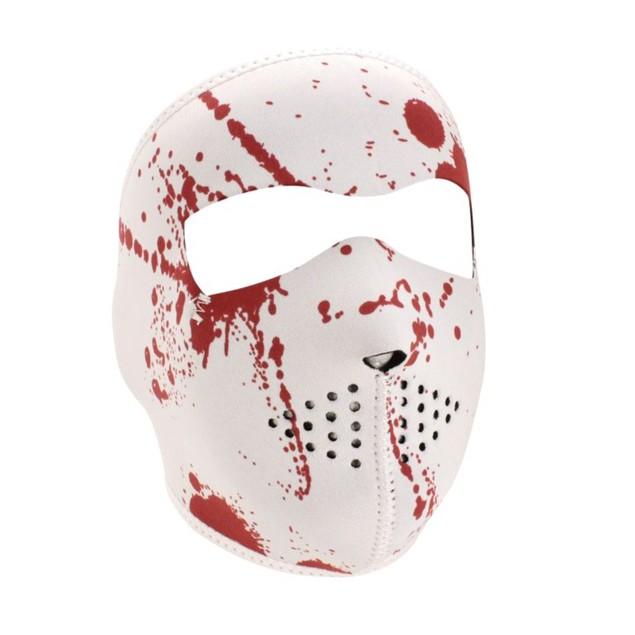 Neoprene Full Face Mask - Blood Splatter