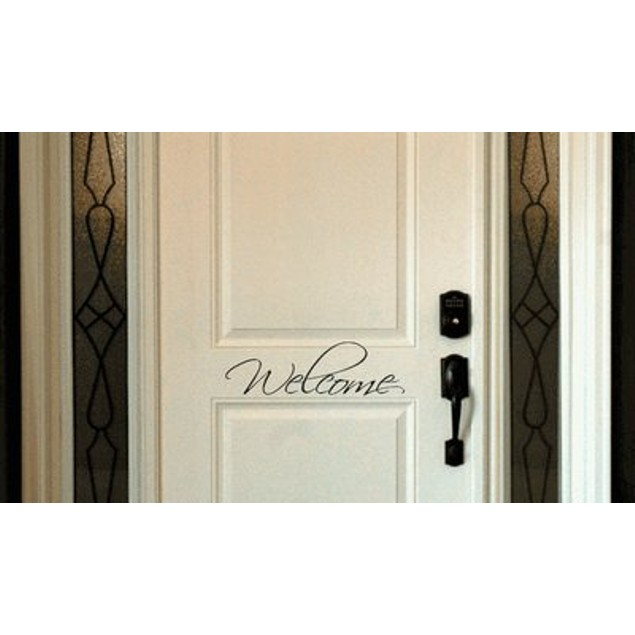 Fancy Welcome Door Decal