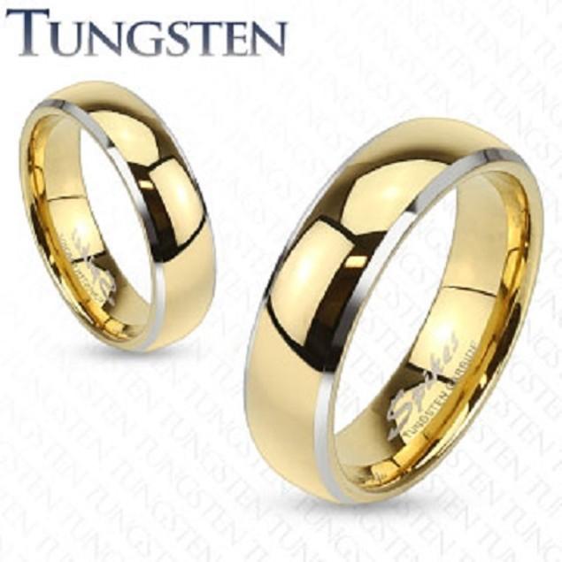 Sharp Comfort Fit Tungsten Men Ring