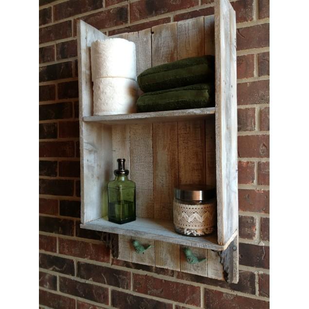Sweet Southern Charm- Reclaimed Wood Bathroom Shelf