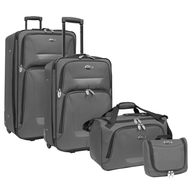 US Traveler Westport 4pc Upright Rolling Luggage Set