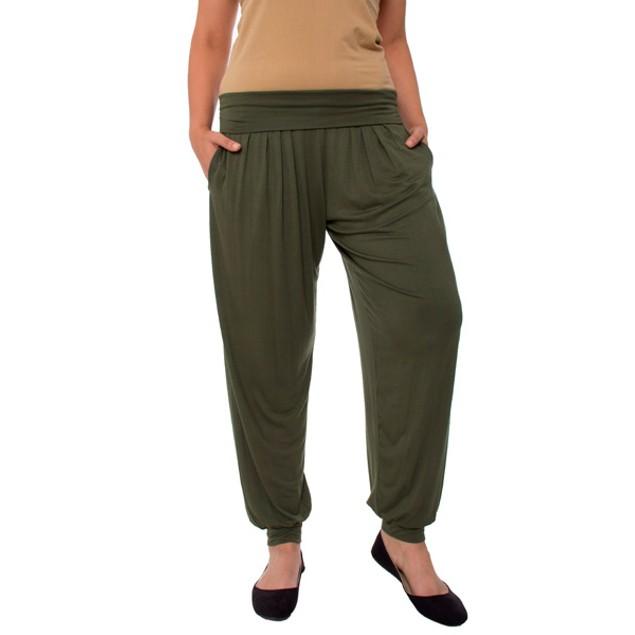 Plus Size Women's Fold-Over Harem Pants