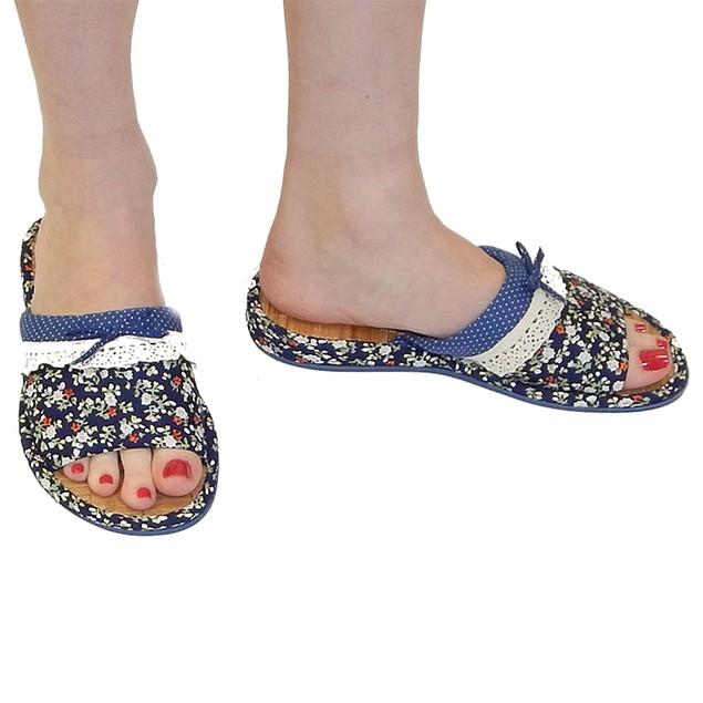 Women's Designer Floral Top Slippers