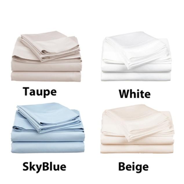 4-Piece Set: 600 Thread Count Cotton Sateen Sheets