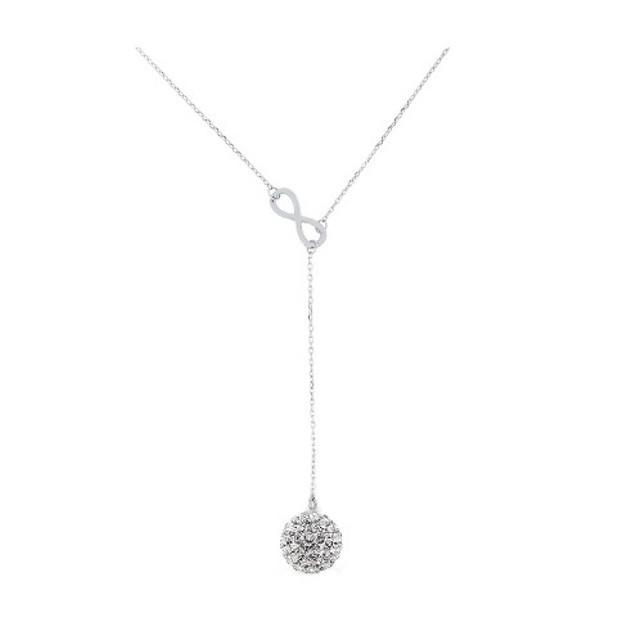 Crystal Swarovski Elements Infinity Y Necklace