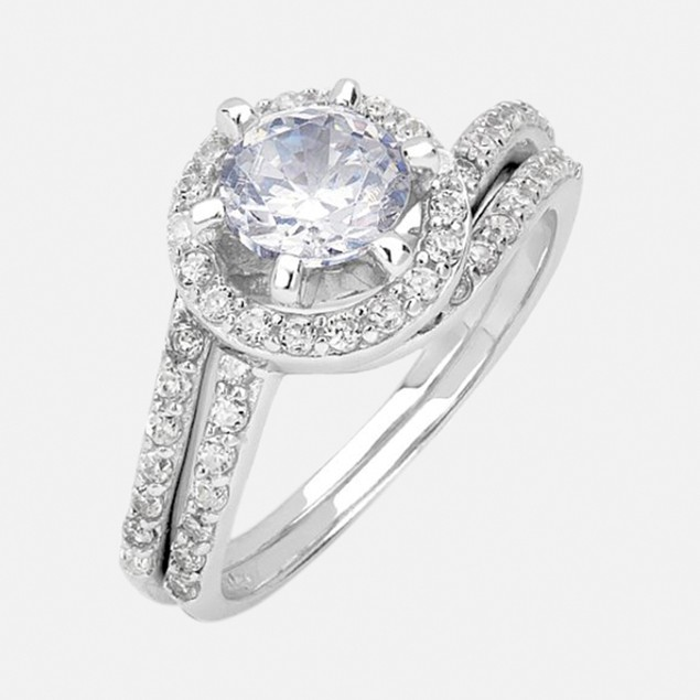 Sterling Silver 1.5ct Sandra Engagement Ring