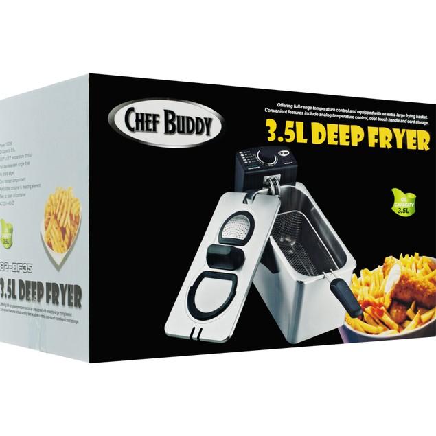 Electric Deep Fryer Stainless Steel - 3.5 Liter