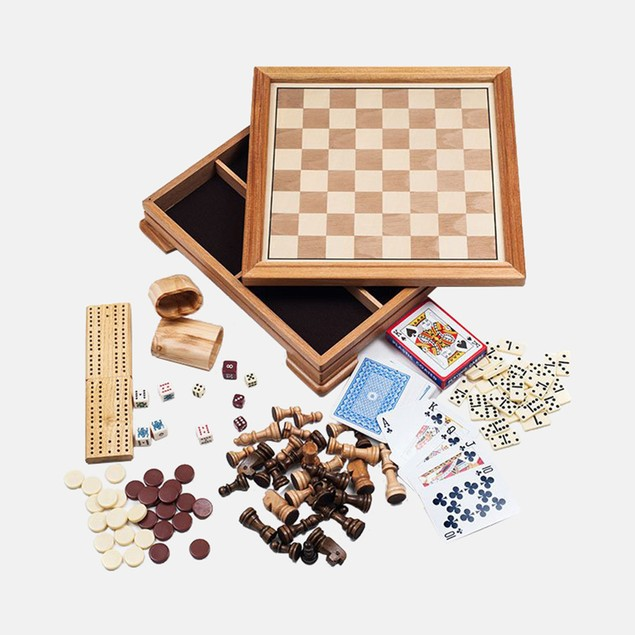 Deluxe 7-in-1 Game Set - Chess - Backgammon