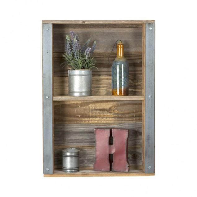 Industrial Reclaimed Wood Wall Shelf