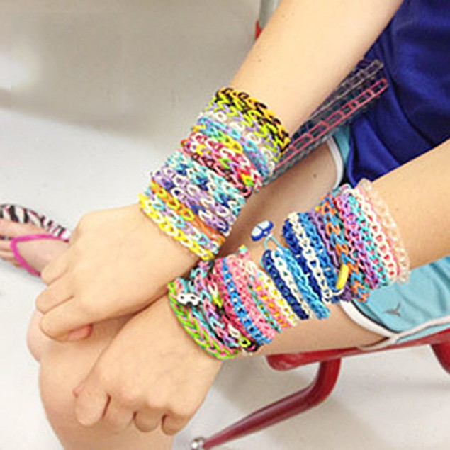 Deluxe Loom Band Starter Kit w/ 2 Hooks - 1200pcs