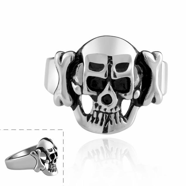 Hollow Stainless Steel Skull Ring
