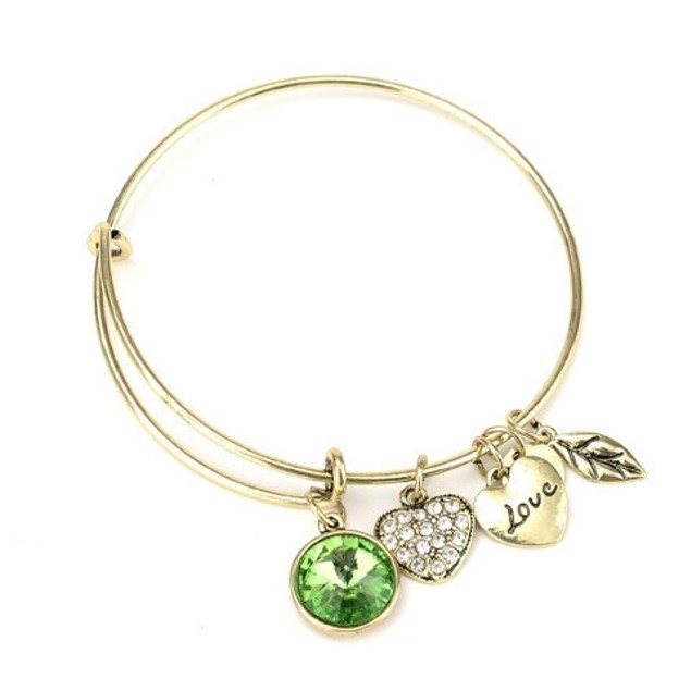 Birthstone Charm Bangle