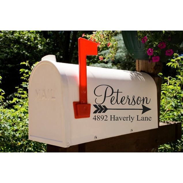 Personalized Arrow Mailbox Decal