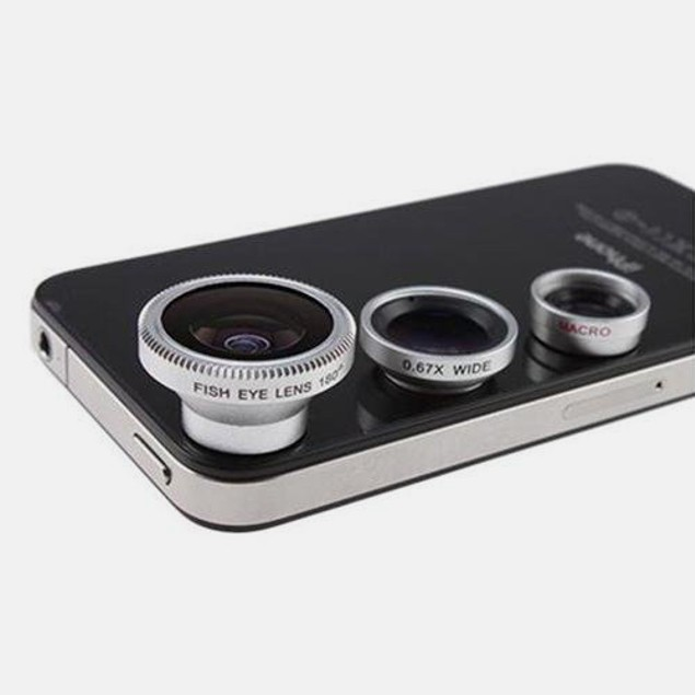 3-in-1 Camera Lens Kit for iPhone 4/5