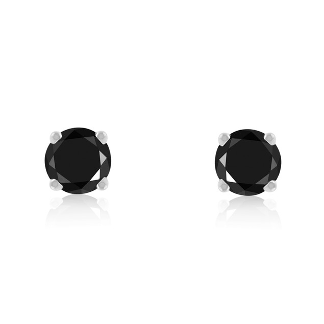 Black Diamond Stud Earrings 1/4cttw