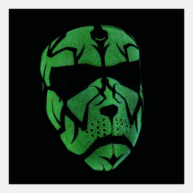 Neoprene Full Mask - Glow in the Dark Darklord