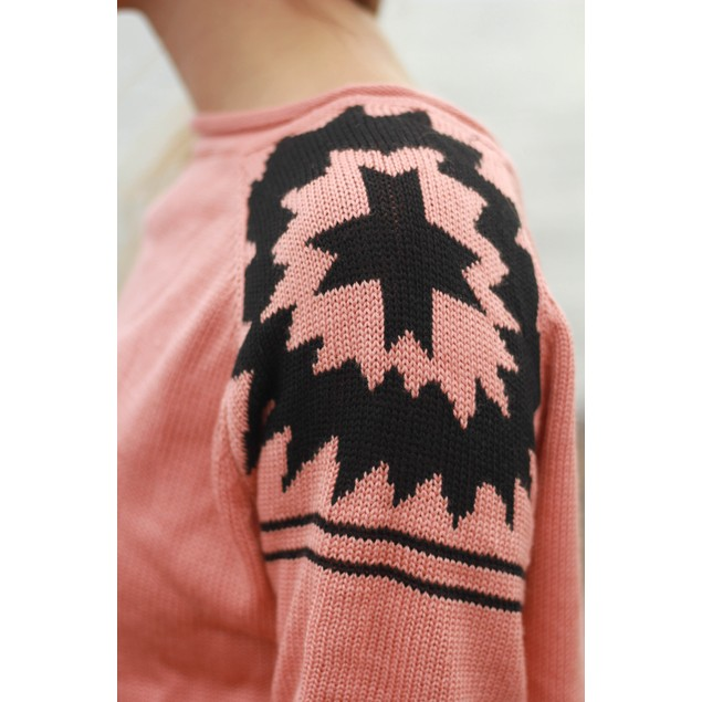 Aztec Shoulder Sweater - 5 Colors