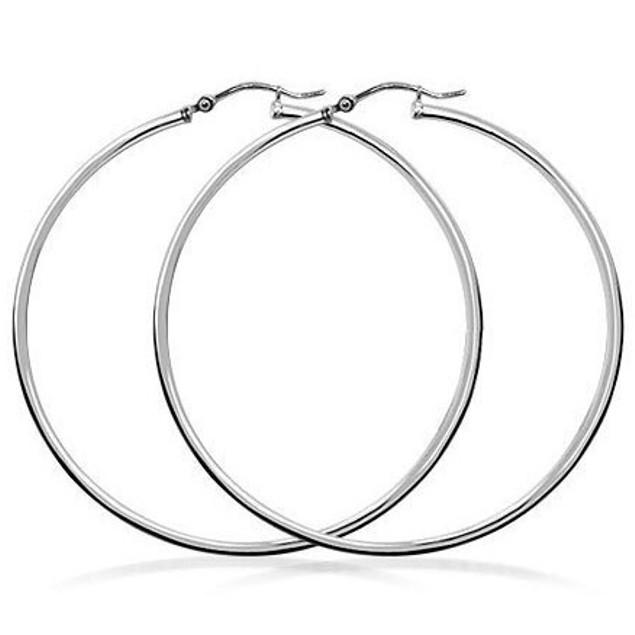 Sterling Silver 2mm Haute Hoop Earring