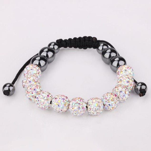 Disco Ball Eleven Beads Austrian Crystal Bracelet - Vivid Light Crystal