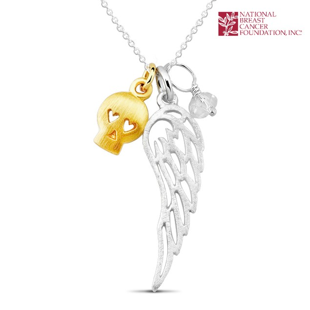 National Breast Cancer Foundation Inspirational Jewelry - Sterling Silver Angels Wing Pendant