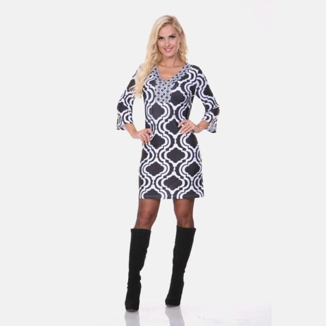 Sophia Black & White Print Dress