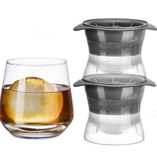 """2-Pack Chuzy Chef 2.5"""" Ice Sphere Molds"""