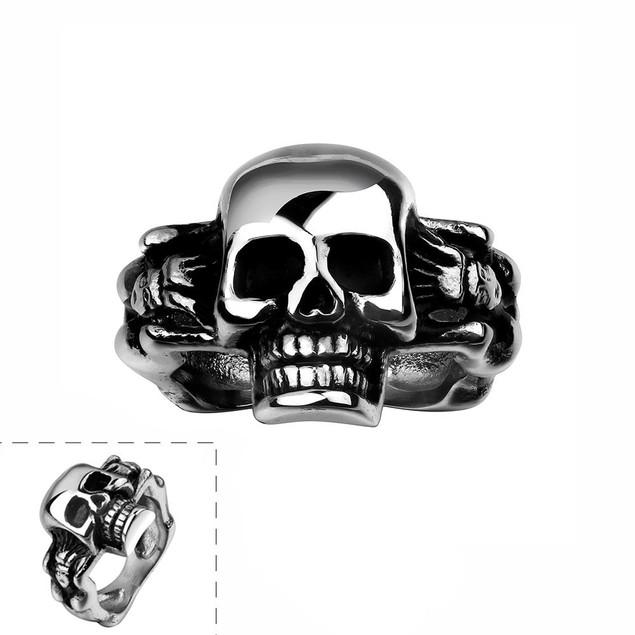 Simple Skull Stainless Steel Ring