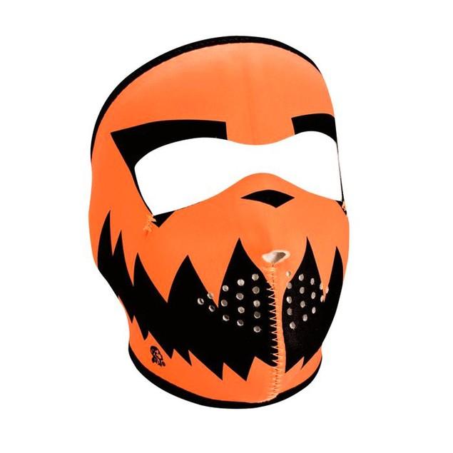 Neoprene Full Mask - Skelly Reverses to Pumpkin