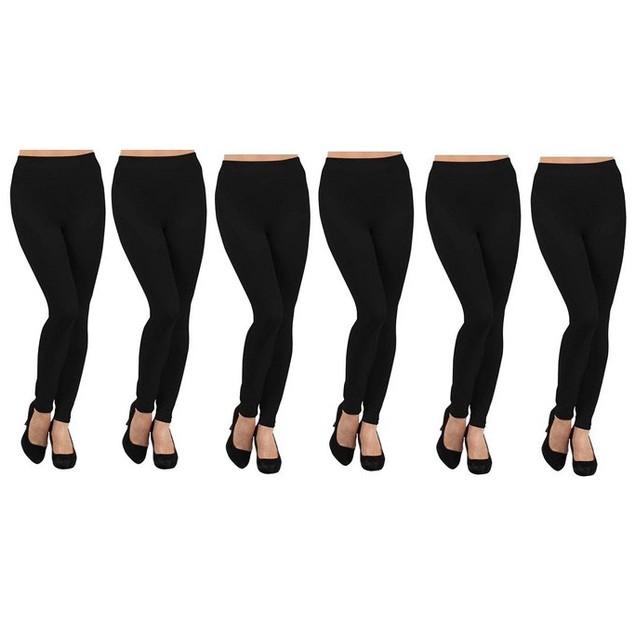 6-Pack Ruthy's Apparel Fleece-Lined Leggings