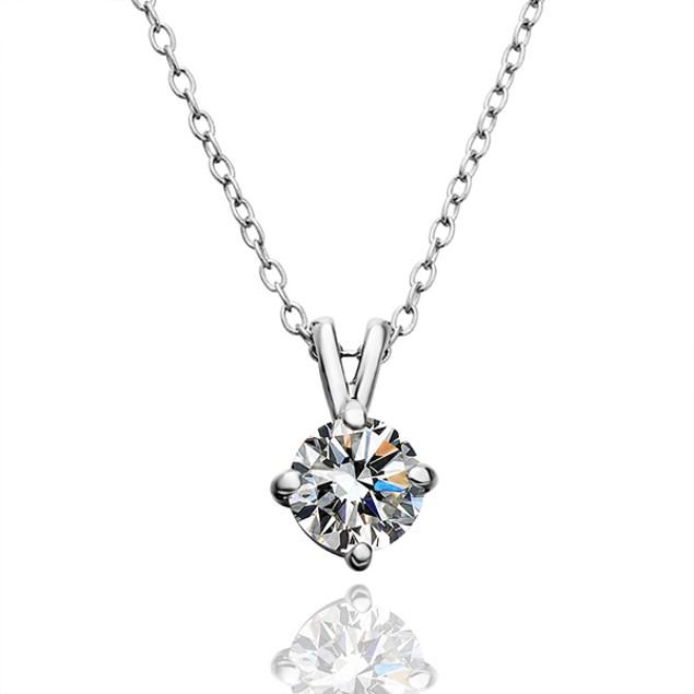 Genuine Diamond Necklace with Austrian Crystal
