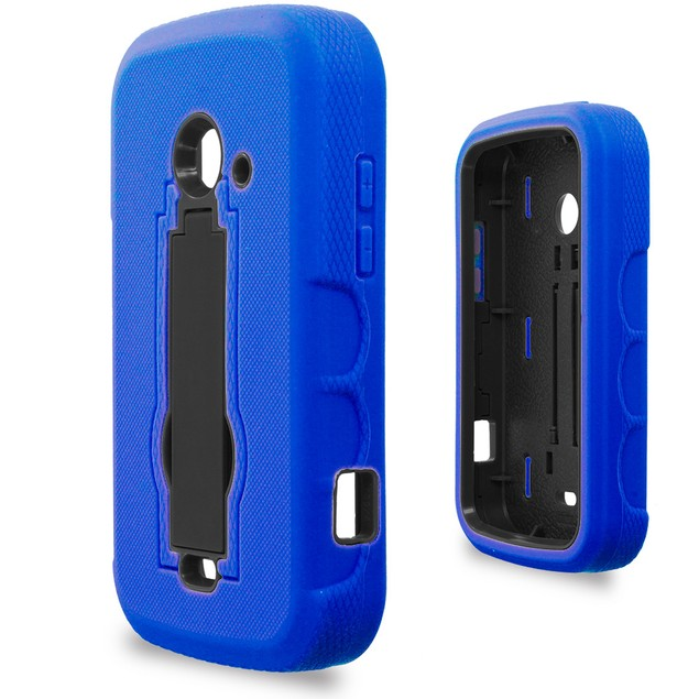 ZTE Zinger Prelude 2 Z667 Hybrid Heavy Duty Armor Case Cover with Stand