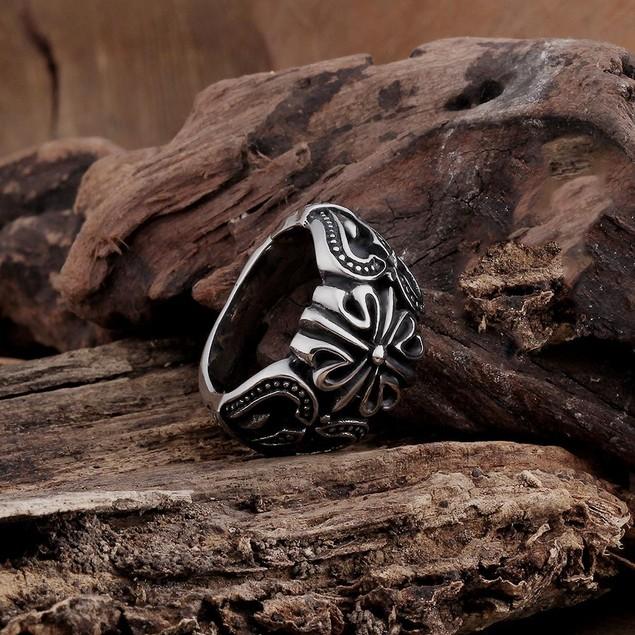 Mini Rose Petal Stainless Steel Ring