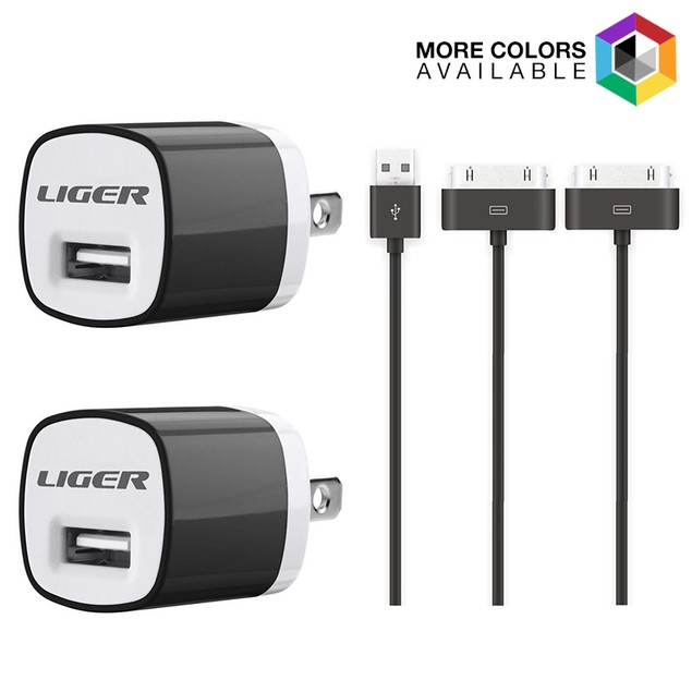 2-Pack Liger Wall Charger + 2-Pack 30pin Cable Charging Kit