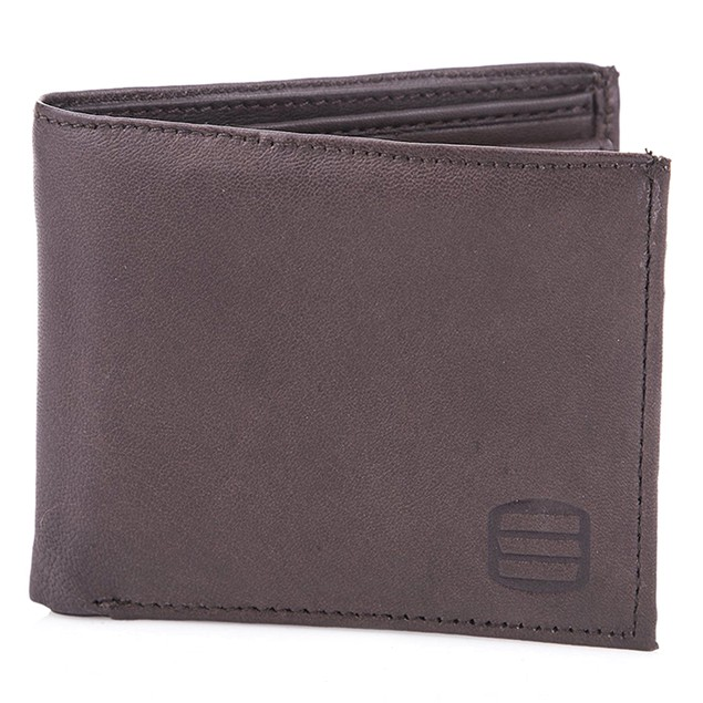 Suvelle Men's Genuine Smooth Sheep Leather Wallet