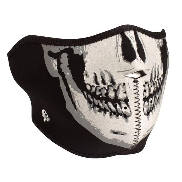 Neoprene 1/2 Face Mask - Reflective Skull
