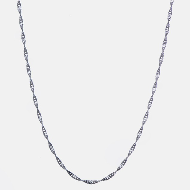 """Sterling Silver 1.3mm Singapore Italian Chain, 16""""-20"""""""