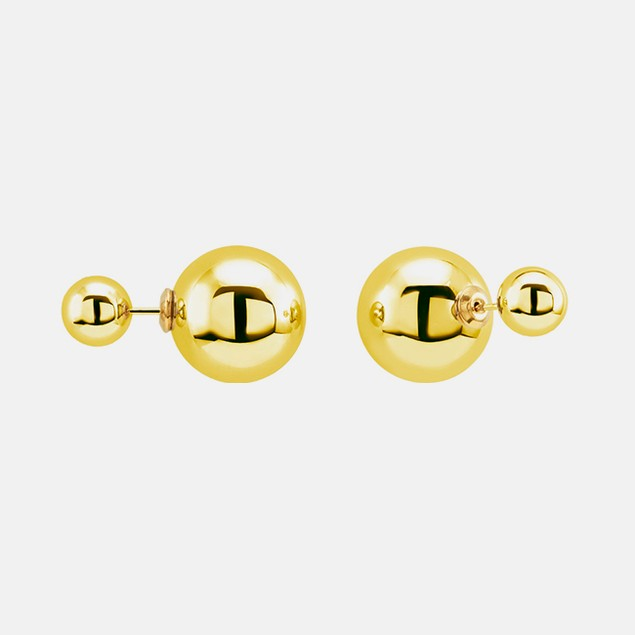 14kt Gold Double Sided Ladies Studs