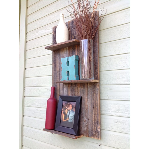 Rustic Mod - Reclaimed Wood Wall Shelf