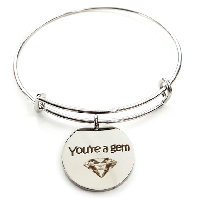 You're A Gem Stainless Steel Bangle