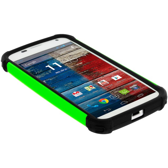 Motorola Moto X Hybrid Rugged Armor Protector Hard Case Cover